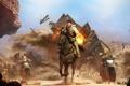 Картинка Лошадь, Взрыв, Погоня, Nathan Drake, Перестрелка, Uncharted, Дрейк