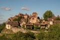 Картинка город, фото, Франция, дома, Loubressac