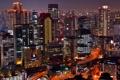 Картинка ночь, дома, небоскребы, Япония, высотки, Osaka.