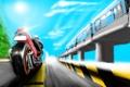 Картинка метро, движение, мотоцикл, дорога, поезд, скорость, рисунок