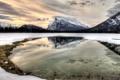 Картинка зима, пейзаж, горы, озеро