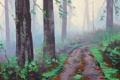 Картинка ARTSAUS, MISTY REDWOOD FOREST, АРТ, РИСУНОК