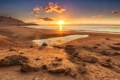 Картинка пляж, океан, горизонт, Sunset, расвет