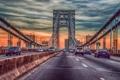 Картинка машины, мост, George Washington Bridge