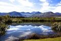 Картинка небо, горы, природа, водоем