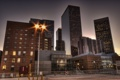 Картинка Los Angeles, night, buildings, usa, ночь, огни, California