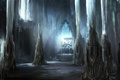 Картинка зала, король, трон, человек, колонны, дождь, сидя