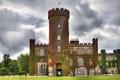 Картинка замок, Англия, башня, каменный, England, плющ, Замок Суинтон