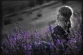 Картинка девушка, веснушки, цветочки, purple dream