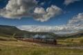 Картинка England, Aisgill, Англия, состав, поезд, пейзаж