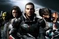 Картинка команда, оружие, космос, Mass Effect 2, captain shepard