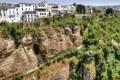 Картинка обрыв, Андалусия, здания, Ronda, тропинка, Spain, Andalusia