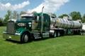 Картинка грузовик, зелёный, trucks, kenworth, цистерна, envirovac