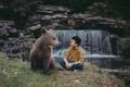 Картинка ситуация, парень, медведь