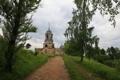 Картинка дорога, монастырь, Родина