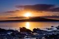 Картинка закат, берег, Природа, Пейзаж