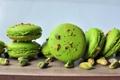 Картинка печенье, сладости, орехи, зеленое, десерт, фисташки, macaron