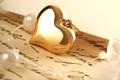 Картинка письмо, золото, жемчуг, сердечко