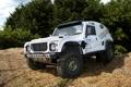 Картинка Белый, Колеса, Машина, Фары, Land Rover, Dakar, Дакар