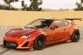 Картинка оранжевый, тюнинг, Toyota, tuning, front, orange, Scion