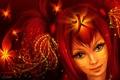 Картинка девушка, цветы, огонь, волосы, арт, иероглиф, lilok-lilok