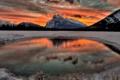 Картинка пейзаж, закат, горы, озеро