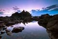 Картинка море, природа, камни, скалы, вечер