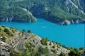 Картинка шоссе, берег, деревья, дорога, Франция, скалы