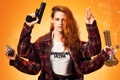 Картинка пистолет, American Ultra, Ультраамериканцы, дым, колба, Кристен Стюарт, Kristen Stewart