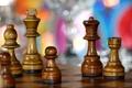 Картинка макро, игра, шахматы, доска, фигуры