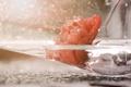 Картинка цветок, стекло, вода