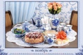 Картинка цветы, розы, конфеты, пирог, календарь, сервиз, сервировка