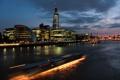 Картинка ночь, город, огни, река, лондон, london, темза