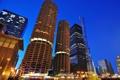 Картинка city, огни, небоскребы, вечер, USA, америка, чикаго