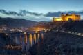 Картинка landscape, bridge, night, Spoleto