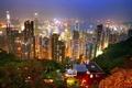 Картинка город, ночь, Hong Kong
