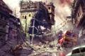 Картинка город, война, арт, разруха, автобус, квартал, uncharted 2