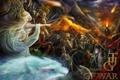 Картинка девушка, оружие, волк, армия, арт, tug of war