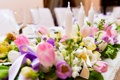 Картинка цветы, букет, свечи, тюльпаны, свадебные
