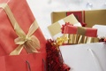 Картинка бантик, ленточка, новый год, new year, мишура, подарок, праздник