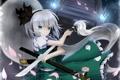 Картинка девушка, цветы, меч, лепестки, арт, touhou, ножны