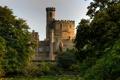 Картинка деревья, замок, Англия, Lancashire, Hornby Castle