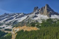 Картинка дорога, лес, горы, Washington, North Cascades, Liberty Bell Mountain