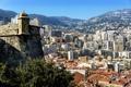 Картинка пейзаж, горы, дома, Монако, Moneghetti