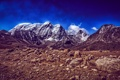 Картинка небо, облака, снег, горы, природа, камни
