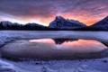 Картинка закат, пейзаж, горы