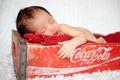 Картинка настроение, ящик, coca cola, младенец