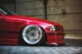 Картинка BMW, red, диск, tuning, E36