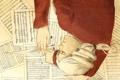 Картинка ноты, перо, мужчина, чернила, Композитор