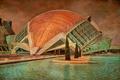 Картинка бассейн, Валенсия, текстура, Испания, здание, холст